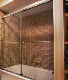 Performer Model Double Towel Bar Through Glass